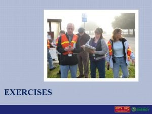 EXERCISES Exercise Program Administration Includes Exercise program development