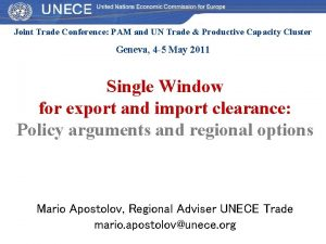 Joint Trade Conference PAM and UN Trade Productive
