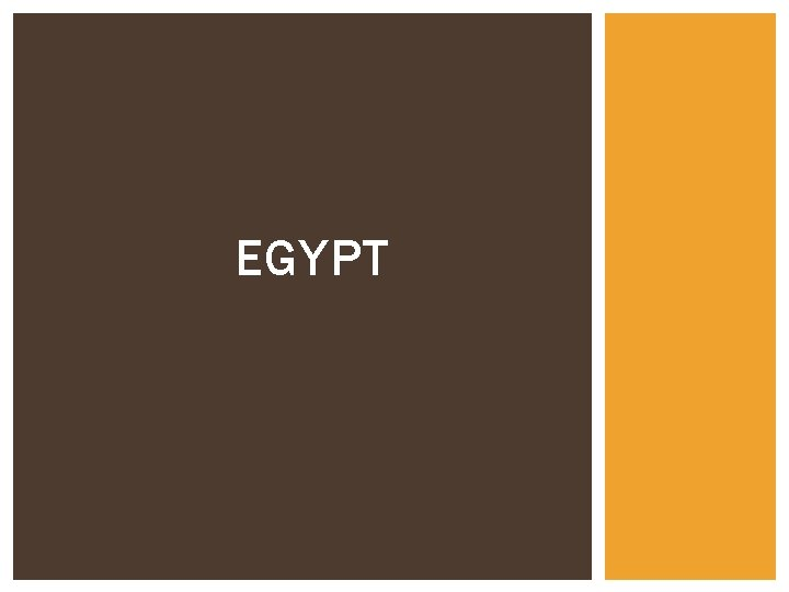 EGYPT GEOGRAPHY OF EGYPT Egypt is situated along