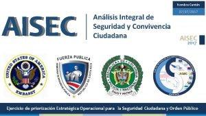 Nombre Cantn AISEC 07072017 Anlisis Integral de Seguridad