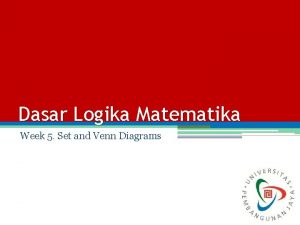 Dasar Logika Matematika Week 5 Set and Venn