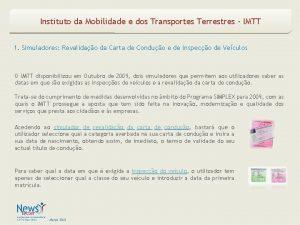 Instituto da Mobilidade e dos Transportes Terrestres IMTT