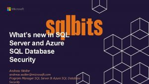 Whats new in SQL Server and Azure SQL