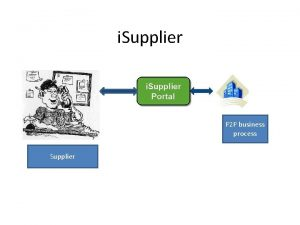 i Supplier P 2 P business process Supplier