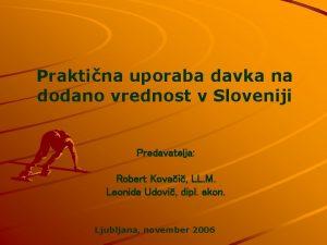 Praktina uporaba davka na dodano vrednost v Sloveniji