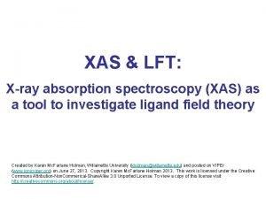 XAS LFT Xray absorption spectroscopy XAS as a