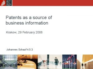 Patents as a source of business information Krakow