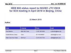 doc ec19 0058 04 Mar 2019 IEEE 802
