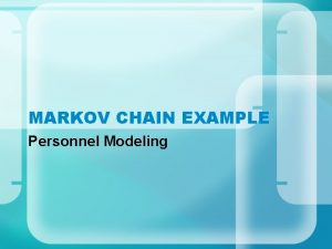 MARKOV CHAIN EXAMPLE Personnel Modeling DYNAMICS Grades N