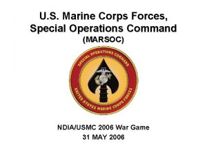 U S Marine Corps Forces Special Operations Command