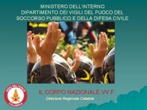 MINISTERO DELLINTERNO DIPARTIMENTO DEI VIGILI DEL FUOCO DEL