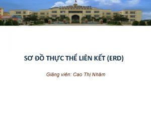 S THC TH LIN KT ERD Ging vin