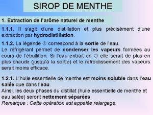 SIROP DE MENTHE 1 Extraction de larme naturel