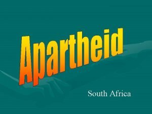South Africa Apartheid South Africa Divided Where is