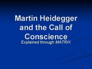 Martin Heidegger and the Call of Conscience Explained