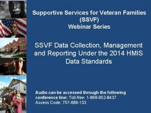 Supportive Services for Veteran Families SSVF Webinar Series