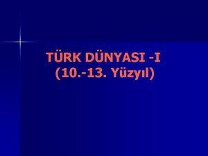 TRK DNYASI I 10 13 Yzyl TRK SLAM