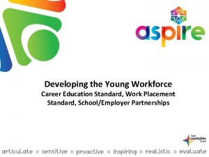Developing the Young Workforce Career Education Standard Work