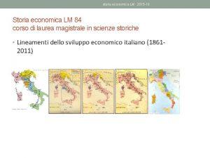 storia economica LM 2015 16 Storia economica LM
