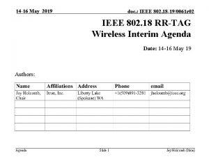 14 16 May 2019 doc IEEE 802 18