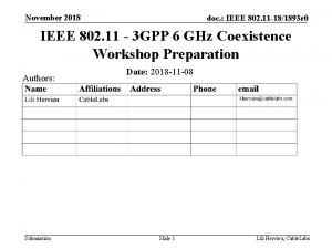November 2018 doc IEEE 802 11 181893 r