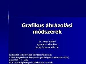Grafikus brzolsi mdszerek dr Jeney Lszl egyetemi adjunktus