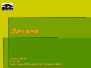 Savana Lucie Maliov 2 ronk Obor Geografick kartografie