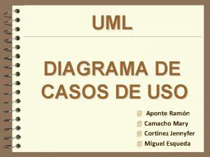 UML DIAGRAMA DE CASOS DE USO 4 Aponte