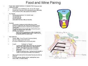 Food and Wine Pairing FOOD AND WINE PAIRING