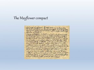 The Mayflower compact How did the Mayflower Compact