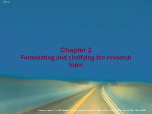 Slide 2 1 Chapter 2 Formulating and clarifying