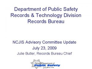 Department of Public Safety Records Technology Division Records