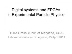 Digital systems and FPGAs in Experimental Particle Physics