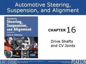 Automotive Steering Suspension and Alignment CHAPTER 16 Drive