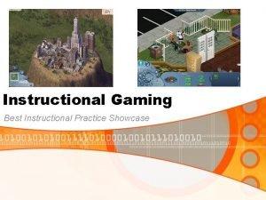 Instructional Gaming Best Instructional Practice Showcase Instruction and