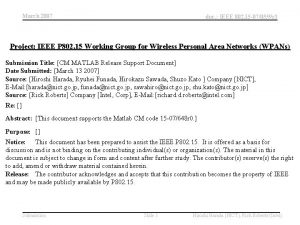 March 2007 doc IEEE 802 15 070559 r
