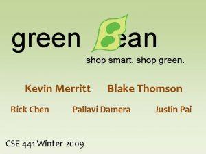 green ean shop smart shop green Kevin Merritt