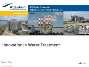 UV Water Treatment Atlantium HydroOptic Solutions Power Plants