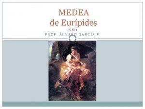 MEDEA de Eurpides NM 1 PROF LVARO GARCA