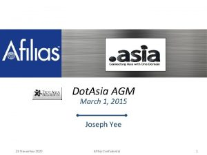 ASIA Update Afilias Dot Asia AGM March 1