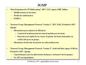 IGMP Host Extensions for IP Multicasting RFC 1112