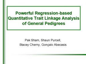Powerful Regressionbased Quantitative Trait Linkage Analysis of General