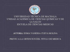 UNIVERSIDAD TCNICA DE MACHALA UNIDAD ACADMICA DE CIENCIAS