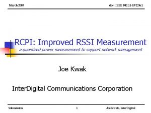 March 2003 doc IEEE 802 11 03224 r