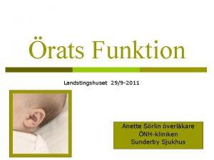 rats Funktion Landstingshuset 299 2011 Anette Srlin verlkare