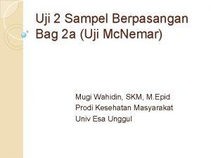 Uji 2 Sampel Berpasangan Bag 2 a Uji