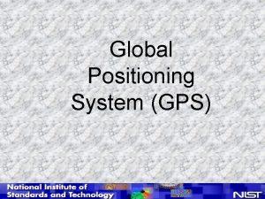 Global Positioning System GPS GPS Satellite Constellation n