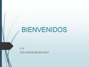 BIENVENIDOS 3 A CICLO ESCOLAR 2016 2017 EVALUACIN