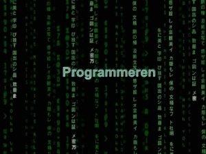 Programmeren Wat is programmeren Het schrijven van opdrachten