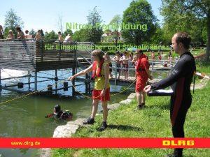 NitroxFortbildung fr Einsatztaucher und Signalmnner www dlrg de